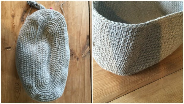 Continue crocheting in rounds to make your crochet bag