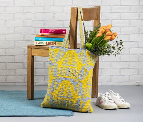 Dassau tote from Tidy Haus paintbox pattern collection
