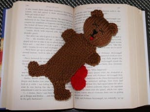 Squashed Bear bookmark