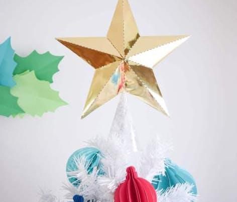 Abbi Kirsten DIY Gold Star Christmas tree topper