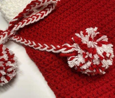Crochet Christmas Stocking pompoms