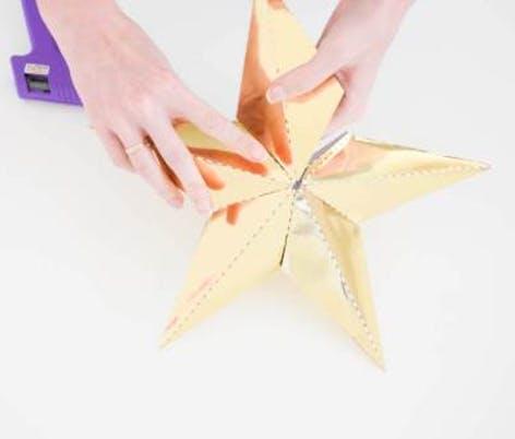 DIY papercraft Christmas tree topper