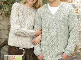 Sweaters in Hayfield Bonus Aran with Wool