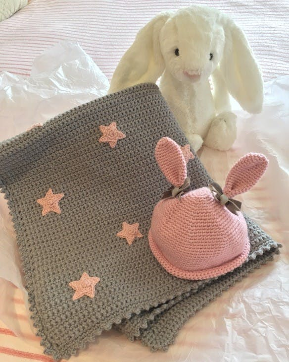 Star baby blanket by Kate Eastwood