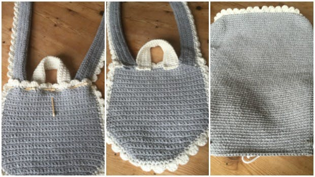 Add a bow to your crochet bag