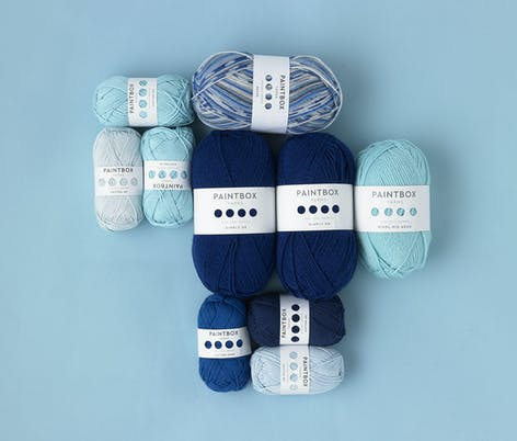 paintbox yarns - blues of dk weight and super chunky