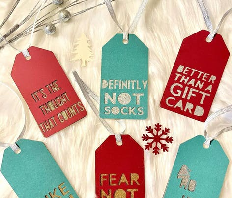 Christmas gift tags by Decoraciones Yani
