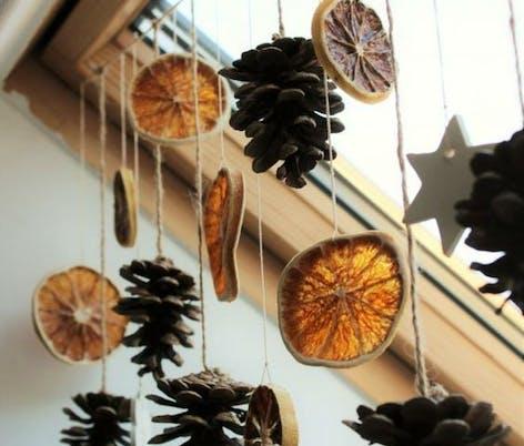 Christmas orange DIY decorations