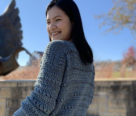 Knitcroaddict bead sweater crochet pattern