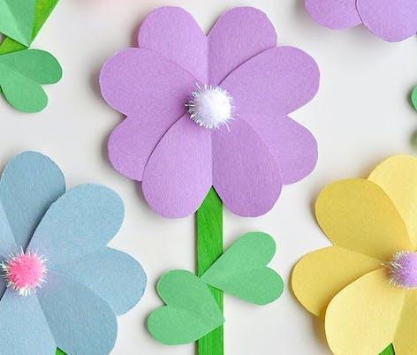 pastel colour paper flowers
