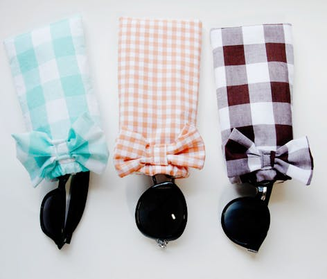 diy fabric sunglasses case for summer