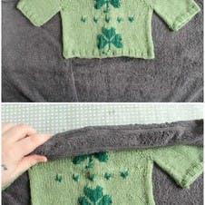 Wrap knitwear in a towel