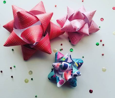 The Daily Life of Creativity DIY paper bows