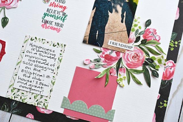 Botanical wedding scrapbook idea