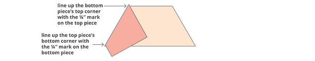 template for sixty degree angle sewing