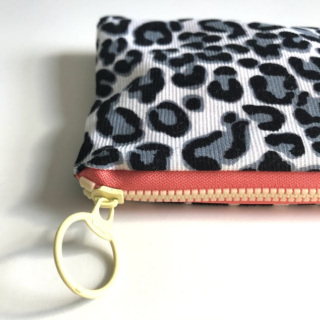Close up of zip and pencil case