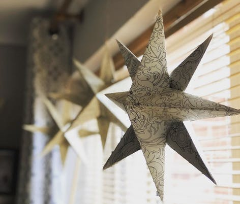 Big paper stars by Kirstin Young