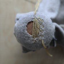 Darning weaving method step 4