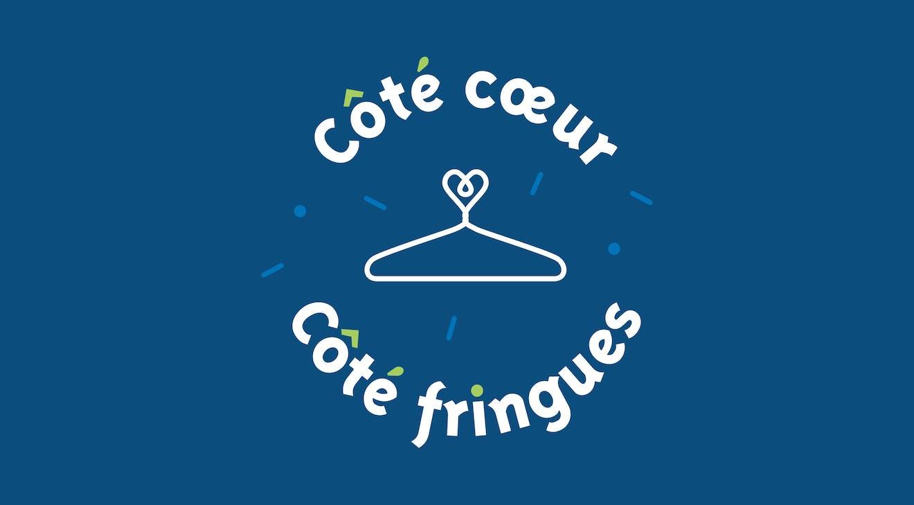 Logo qui représente un cintre et un coeur