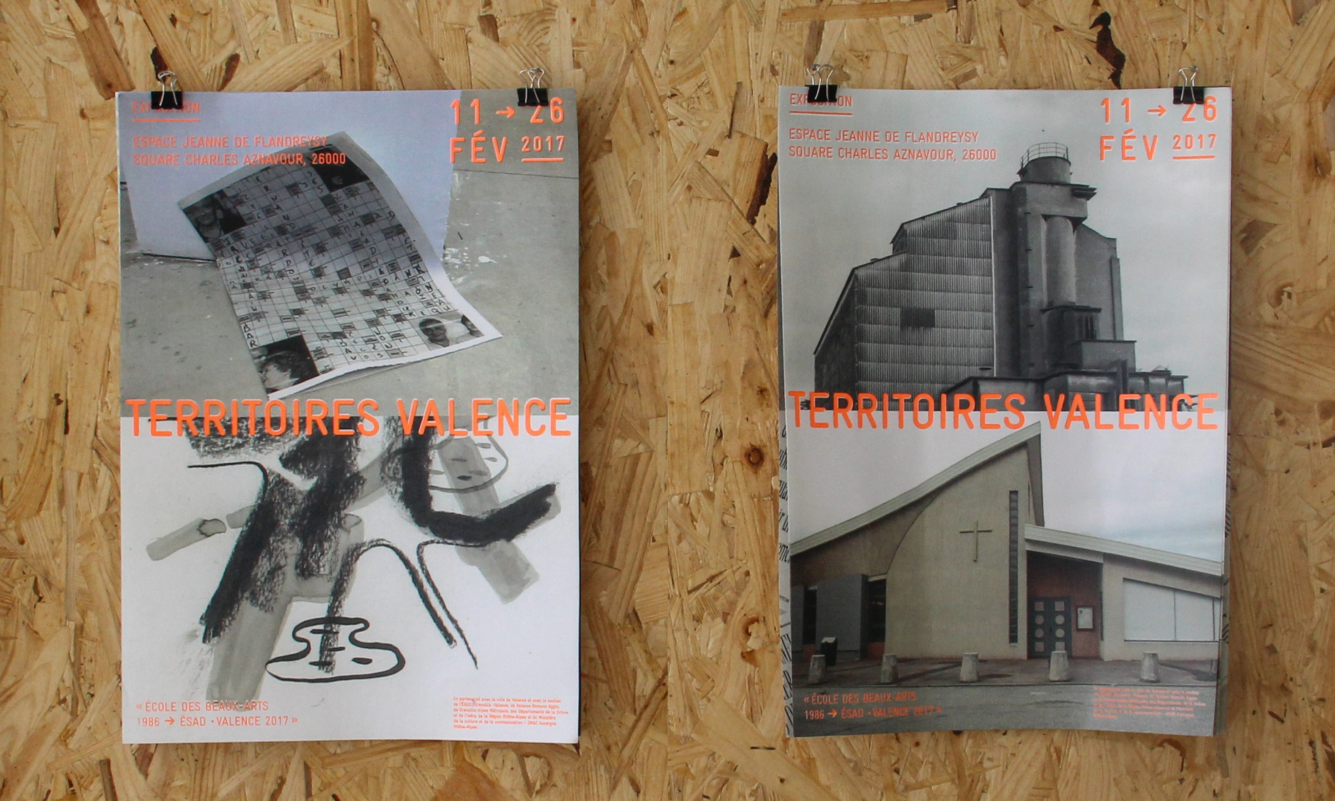Two versions of the poster for the exhibition