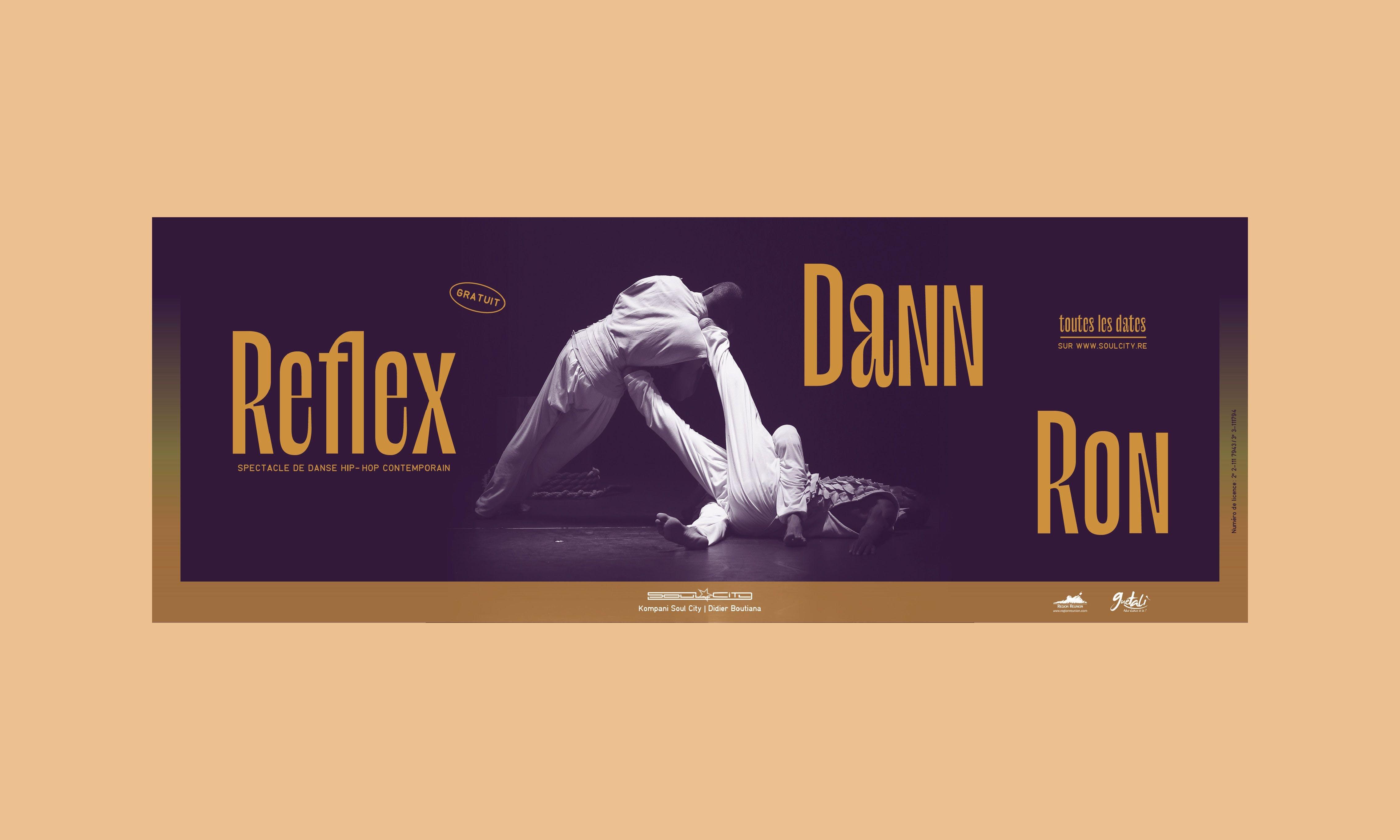 Création de visuel pour la couverture facebook de la compagnie de danse Soul City