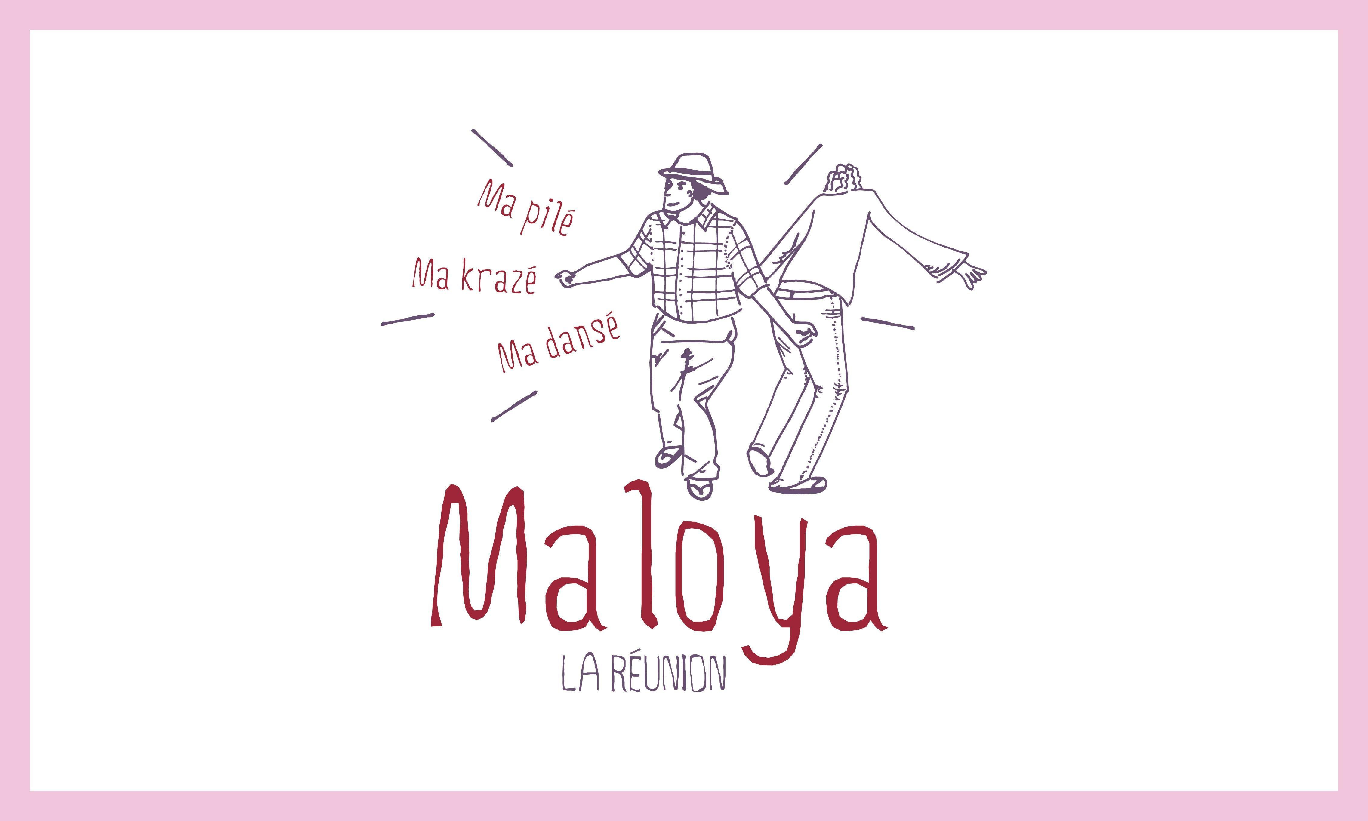 Illustration of people dancing Maloya