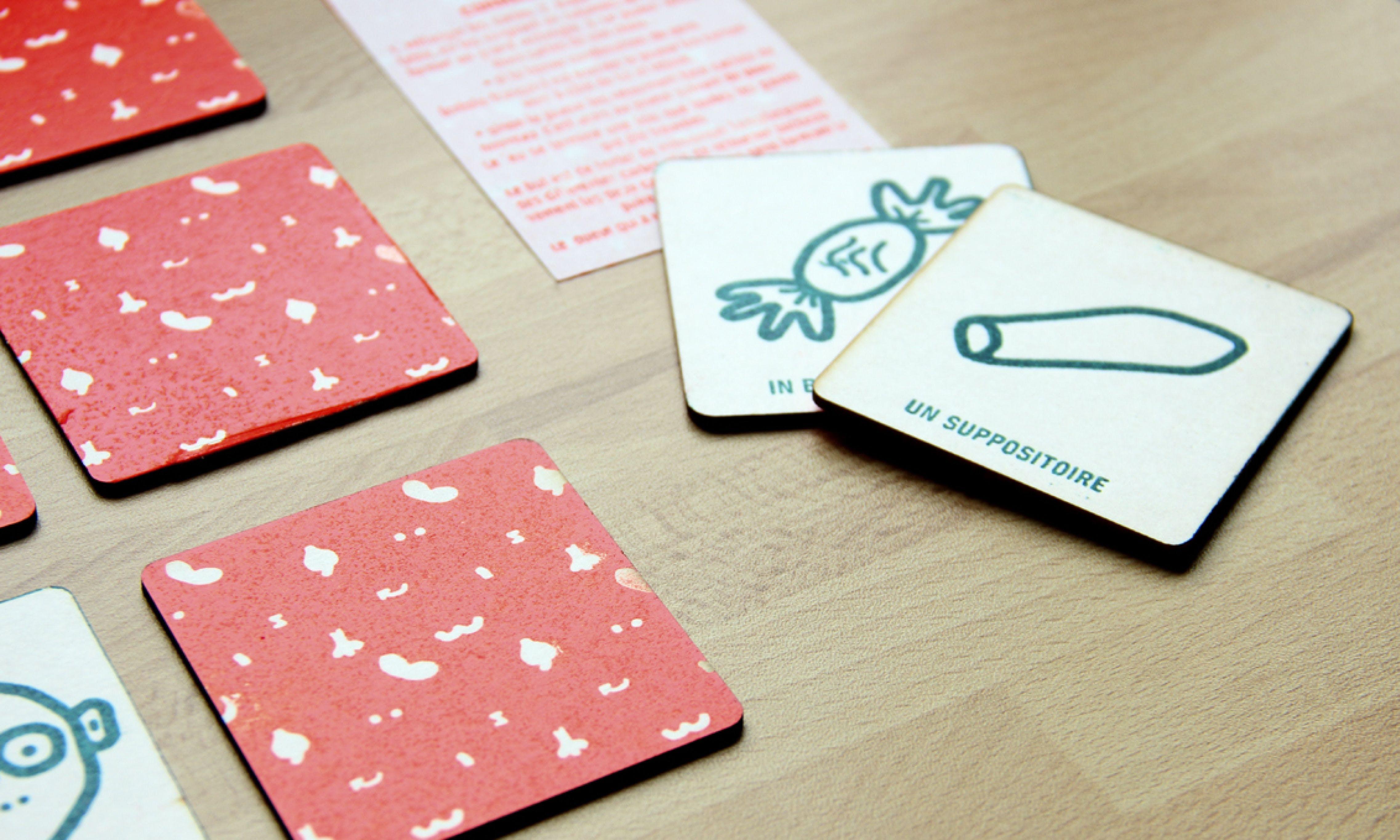 printed cards on floor