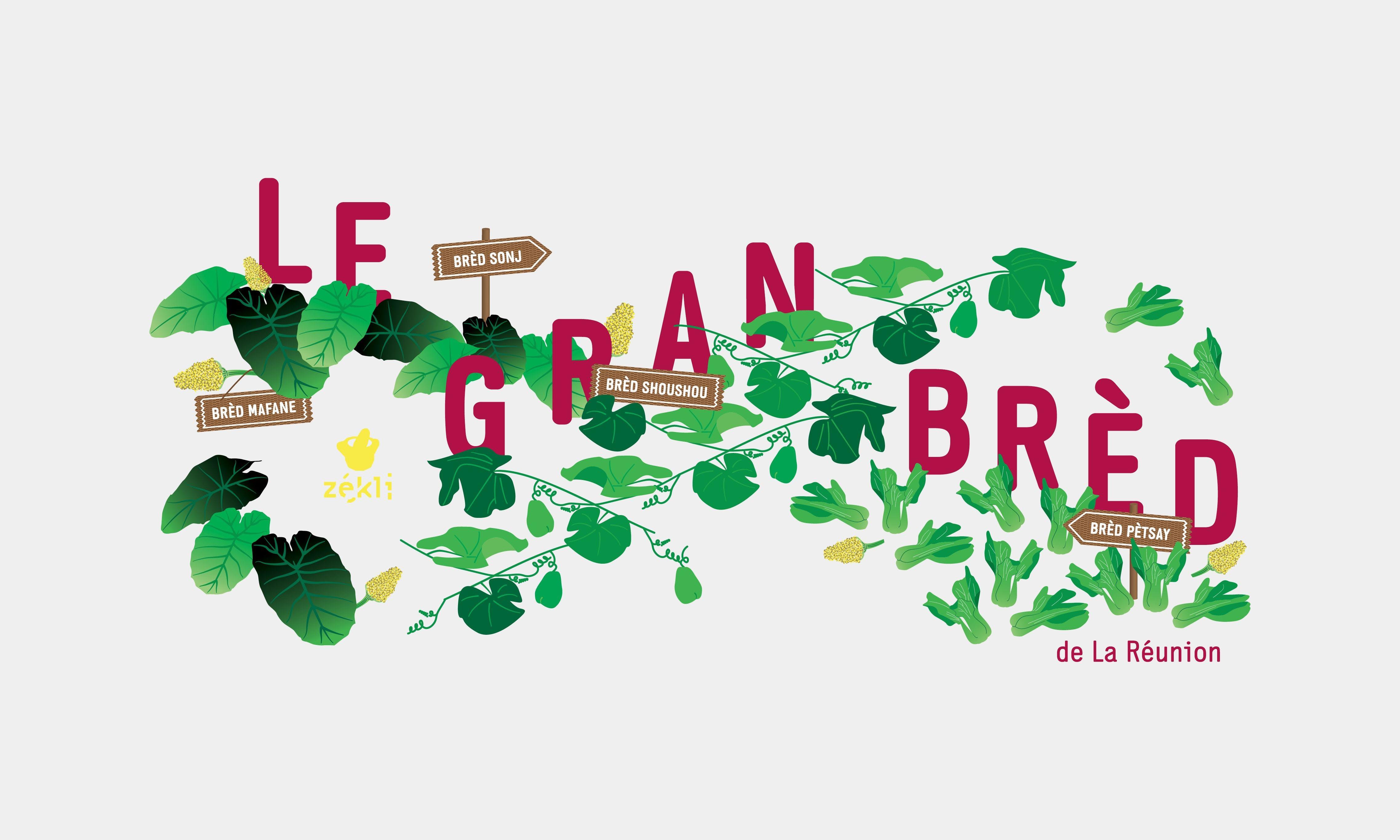 illustration for Le Grand Bred for Zekli brand of Reunion Island