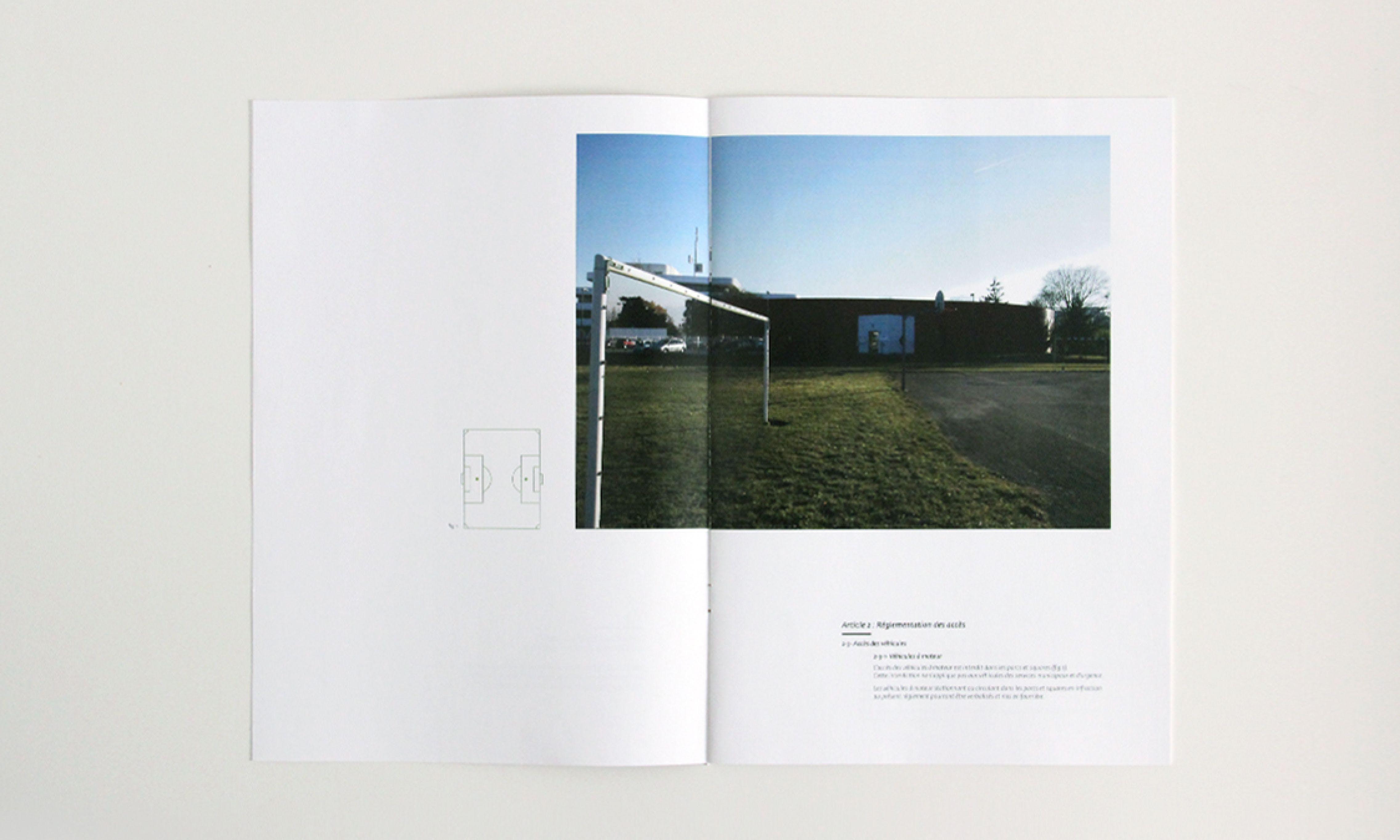 magazine with goalpost