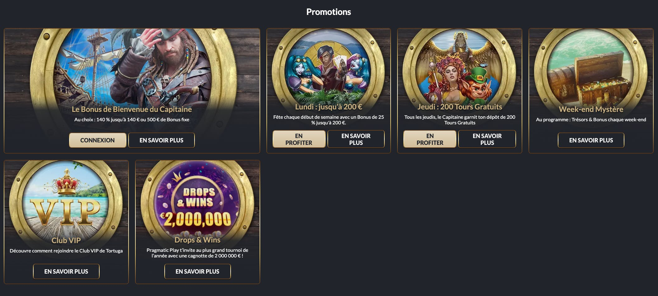 promotions tortuga casino