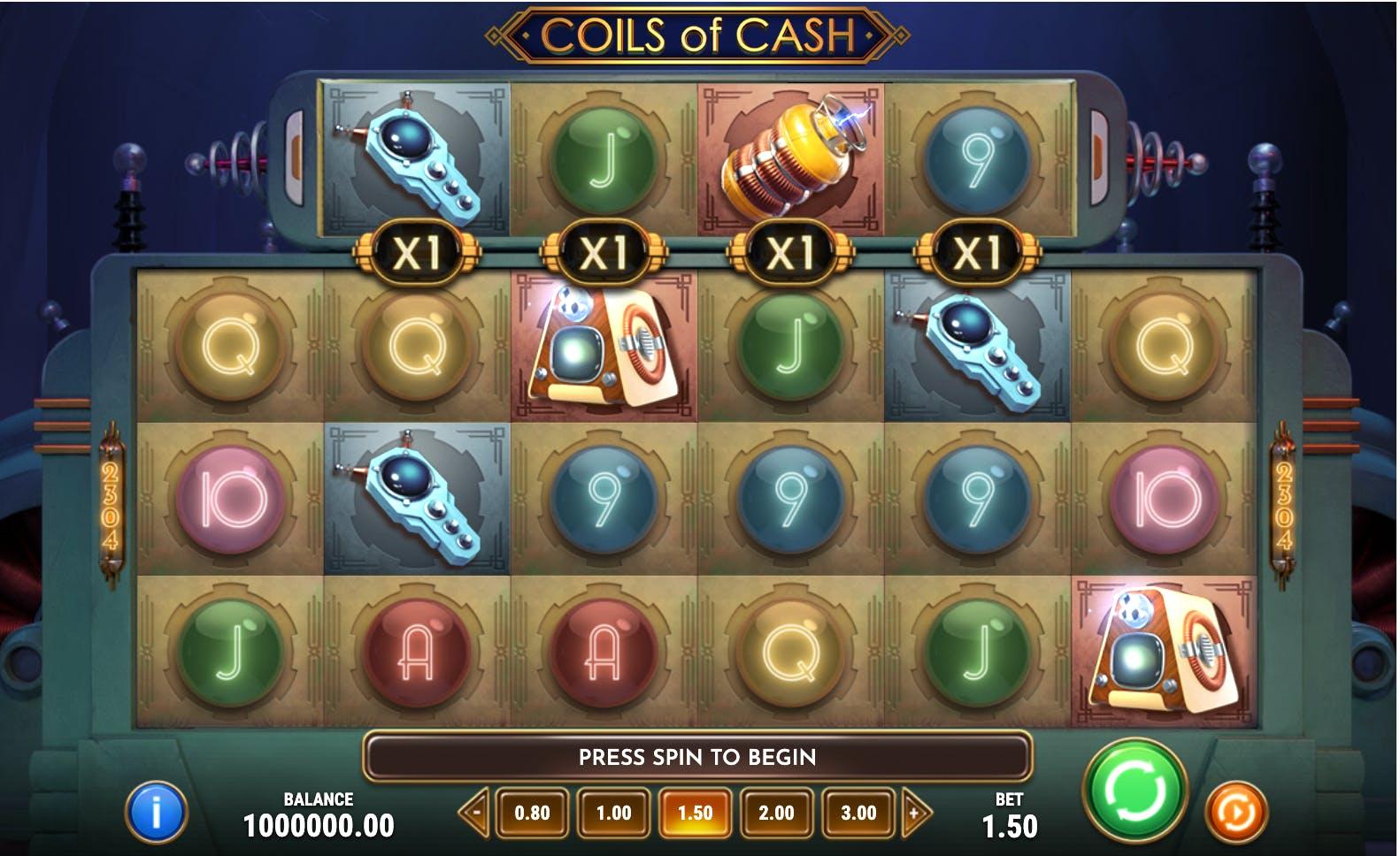 base game coils of cash