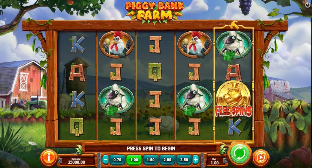 intrface jeu piggy bank farm