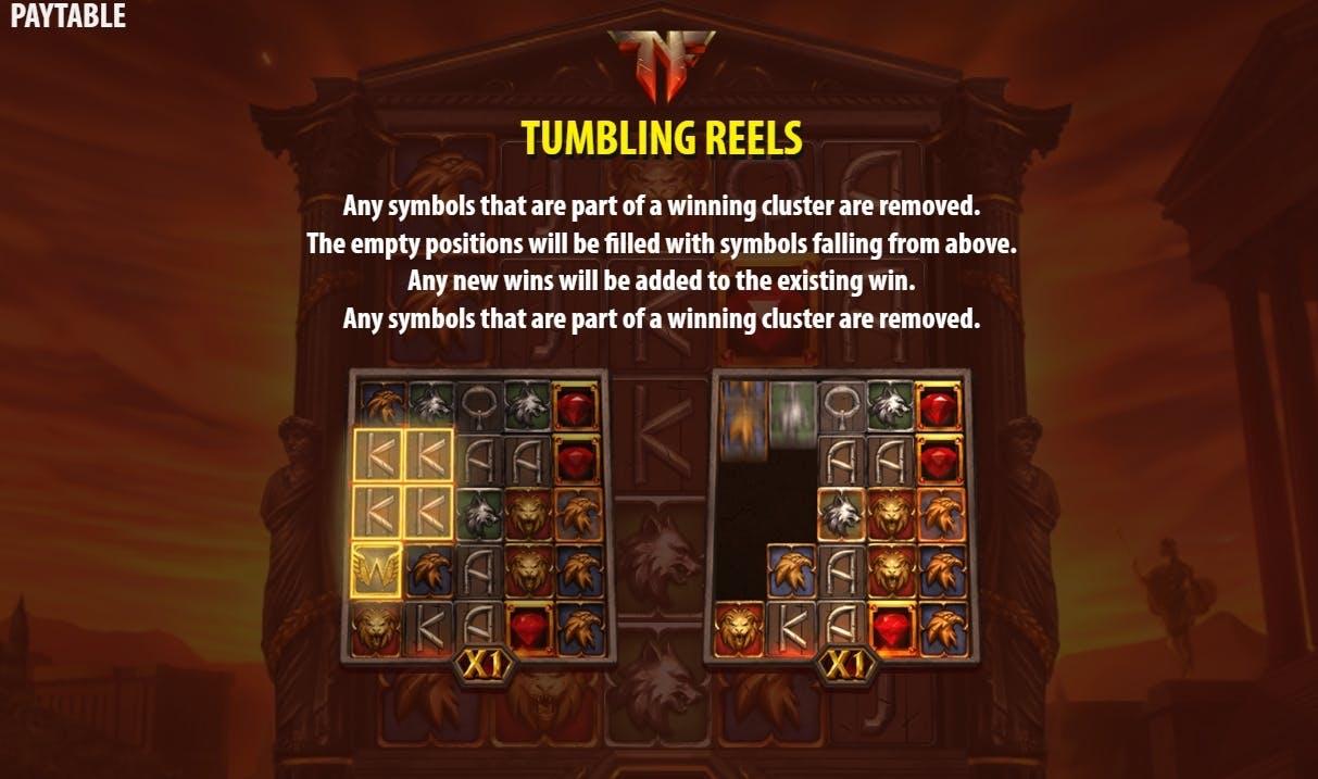 tumbling reels nero's fortune