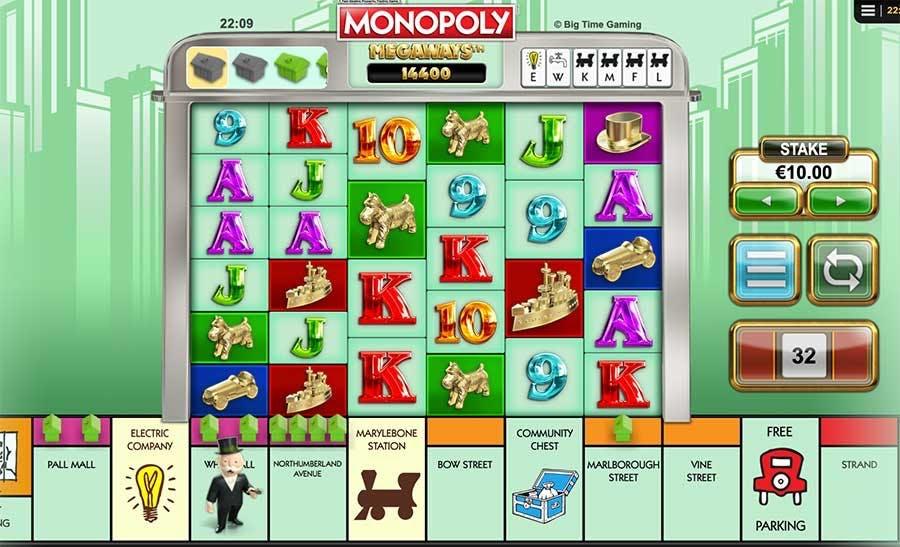 monopoly megways screenshot