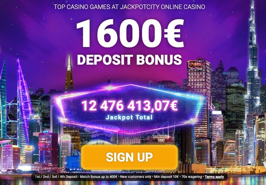 welcome bonus jackpotcity