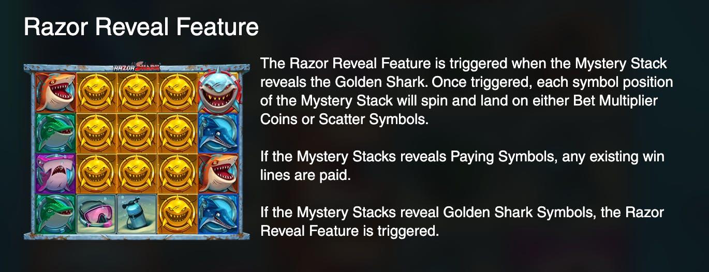 razor reveal feature
