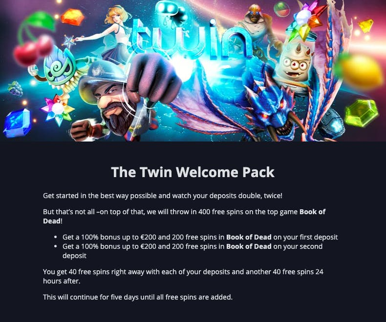 welcome pack twin casino
