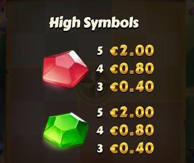 high value symbols aldo's journey