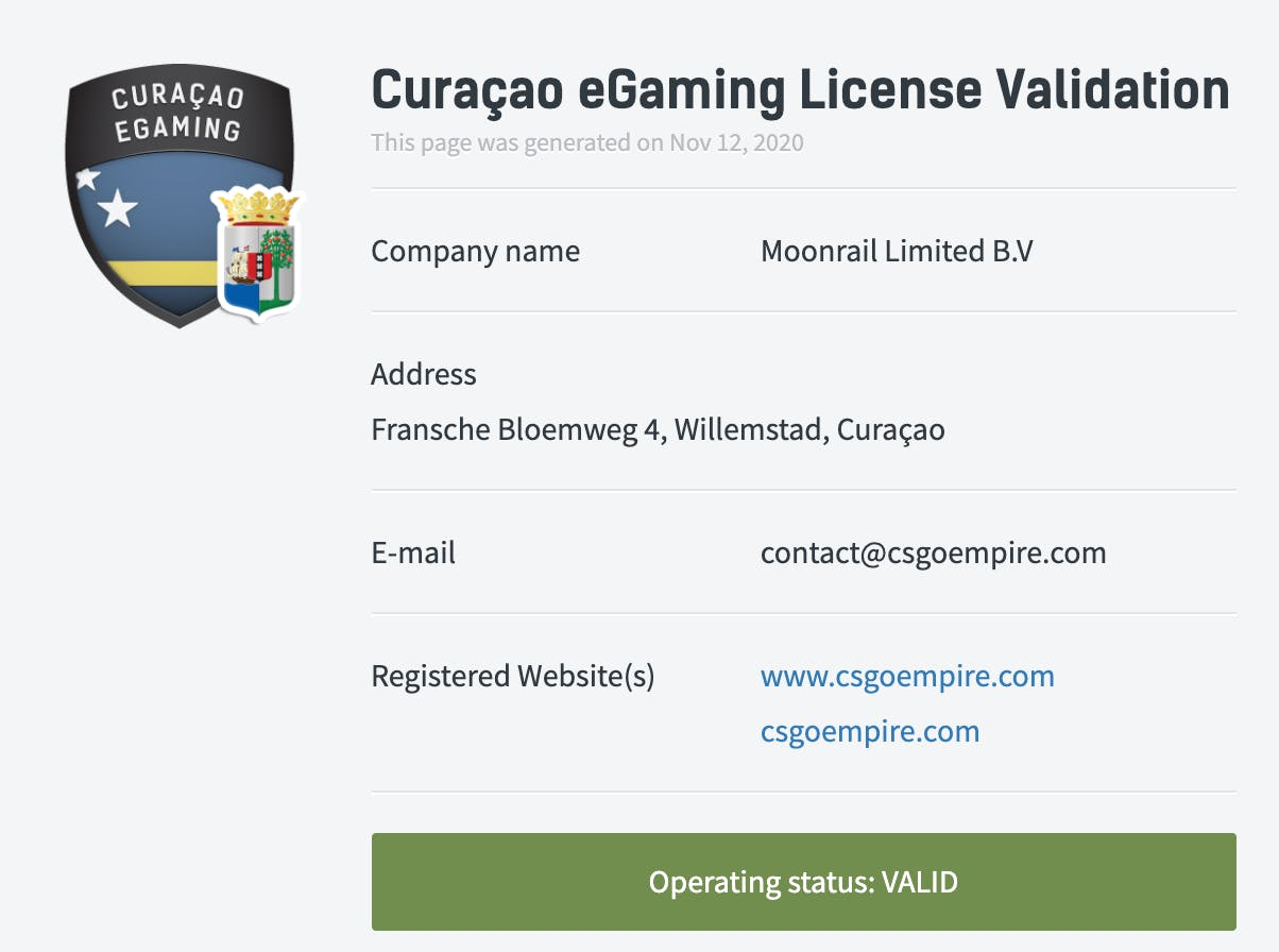 license gamdom
