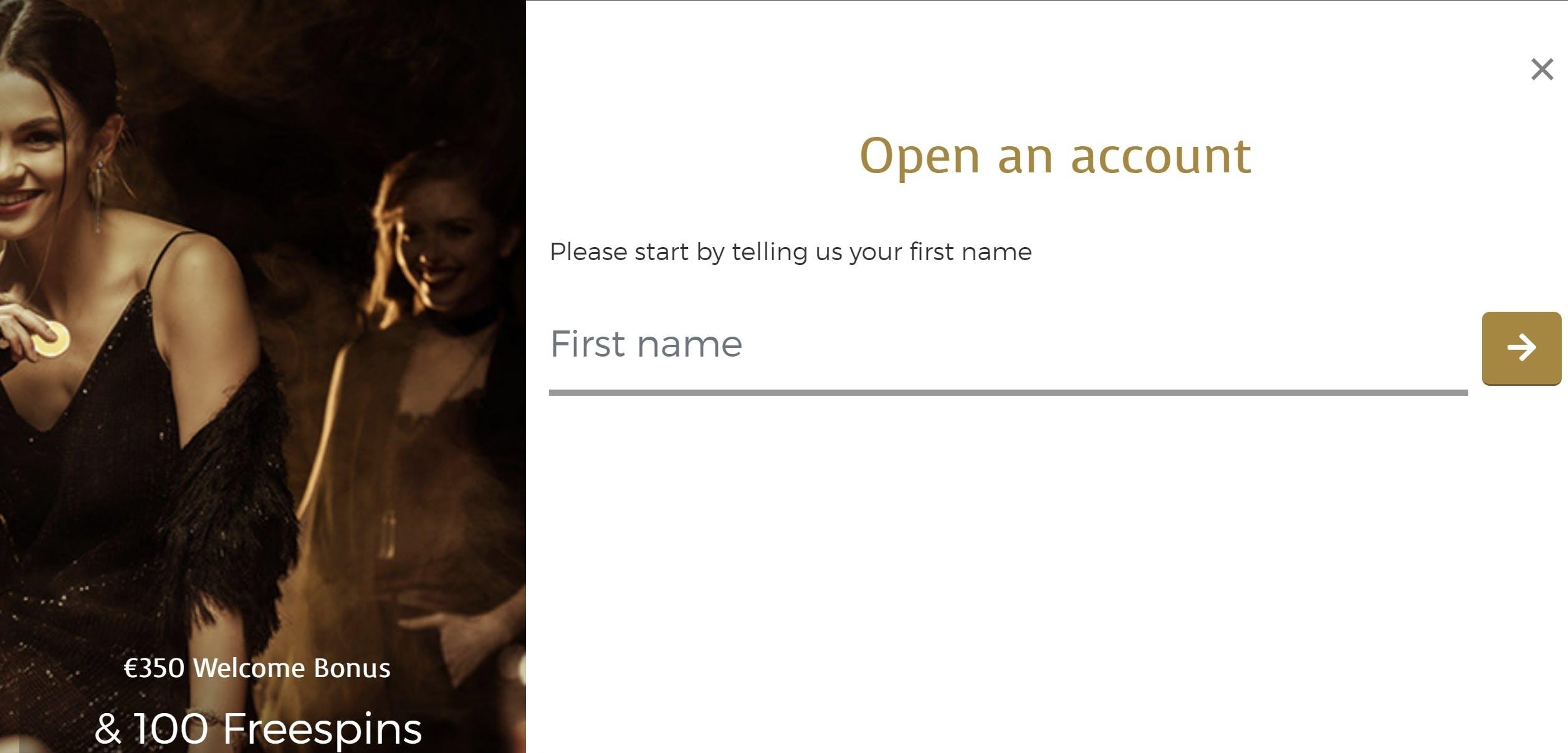 Casino Extra open account