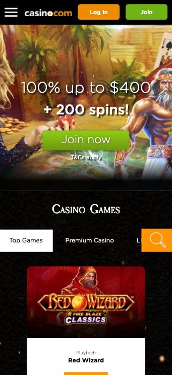 mobile phone casino.com