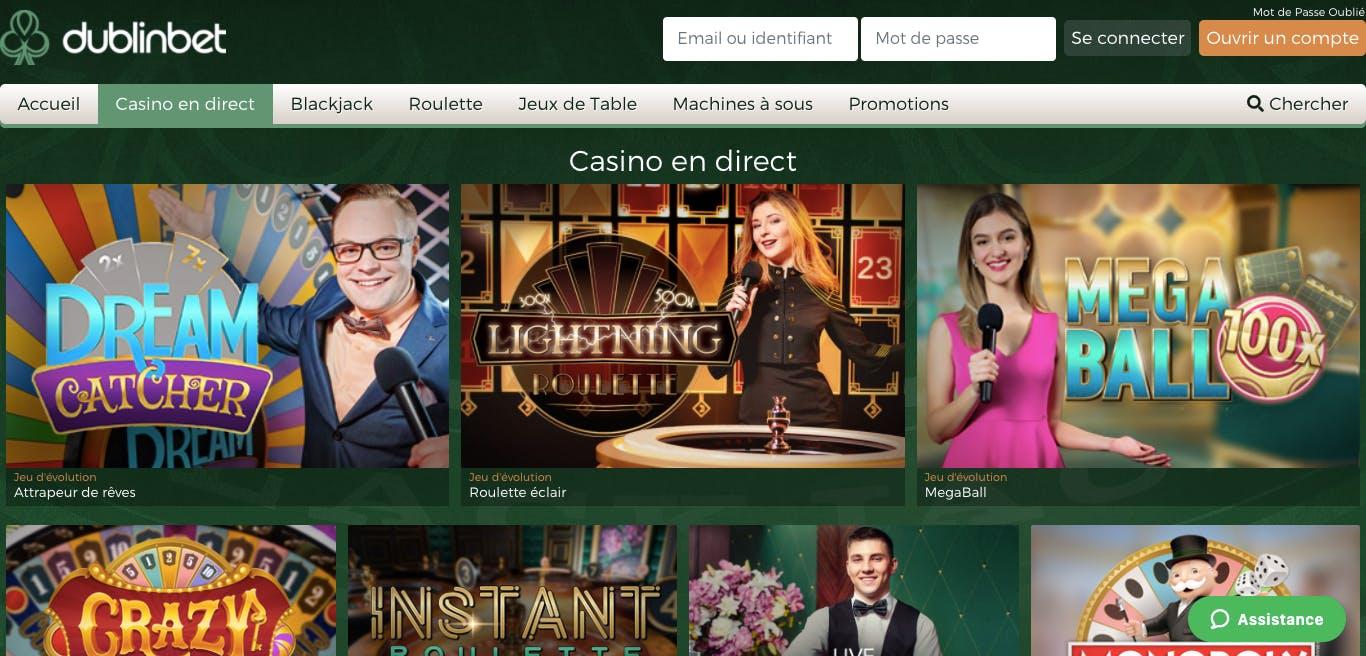 live casino dublinbet