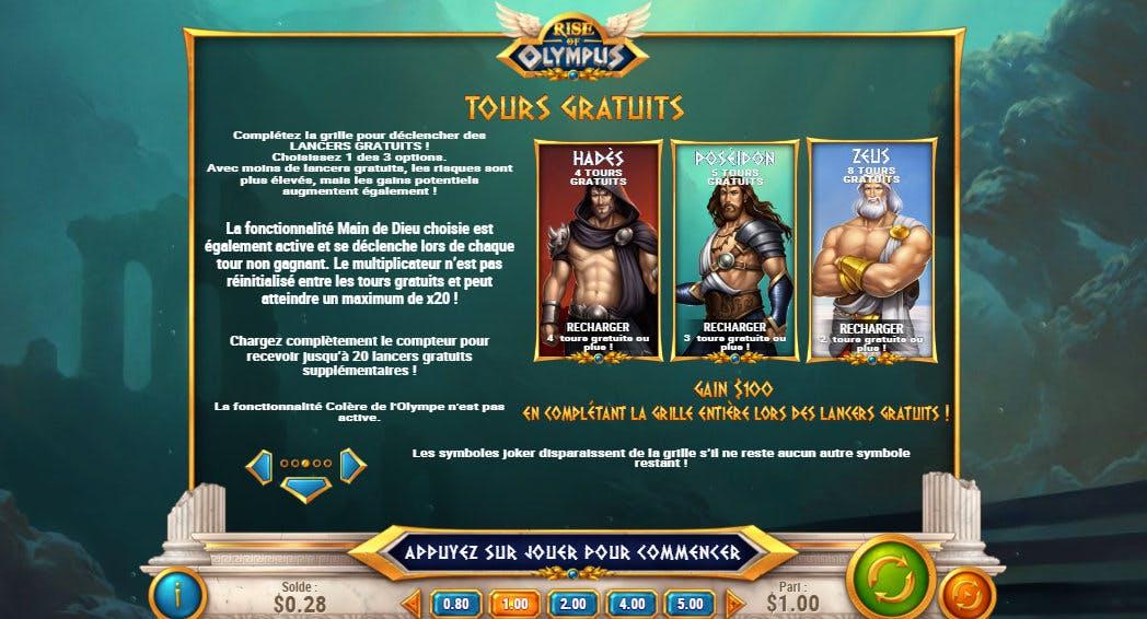 bonus rise of olympus