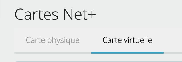 carte net +