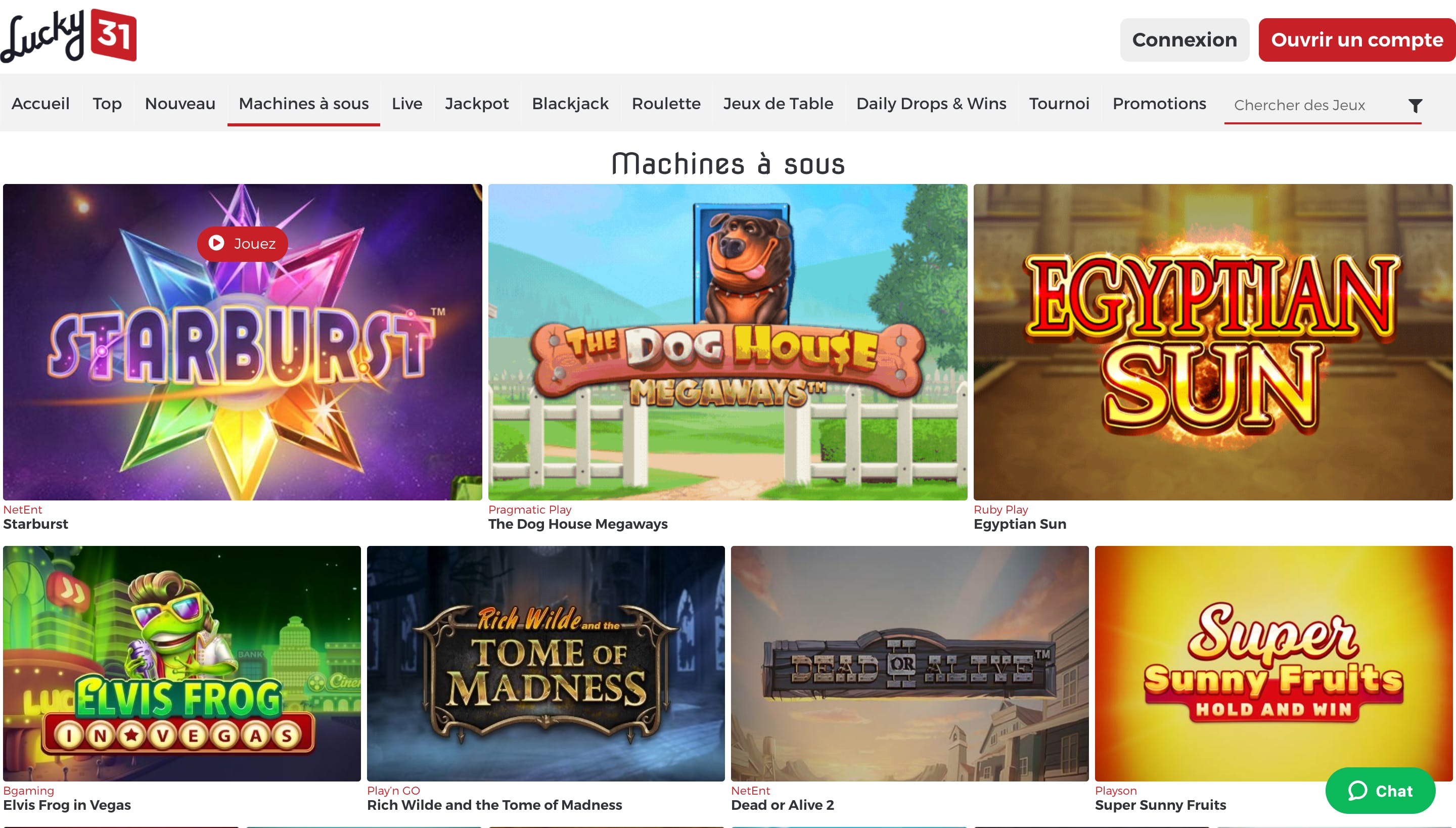 machines a sous lucky31