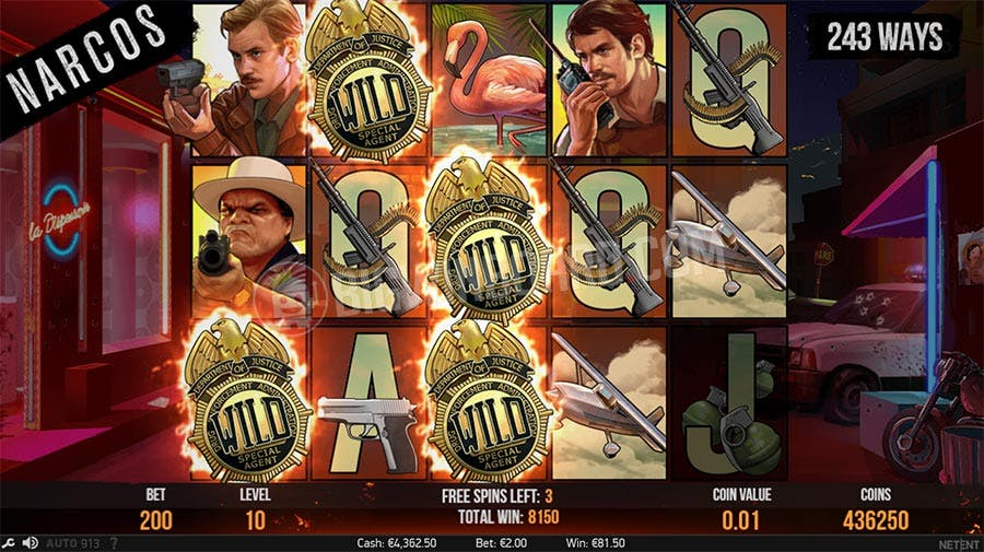 free spins narcos