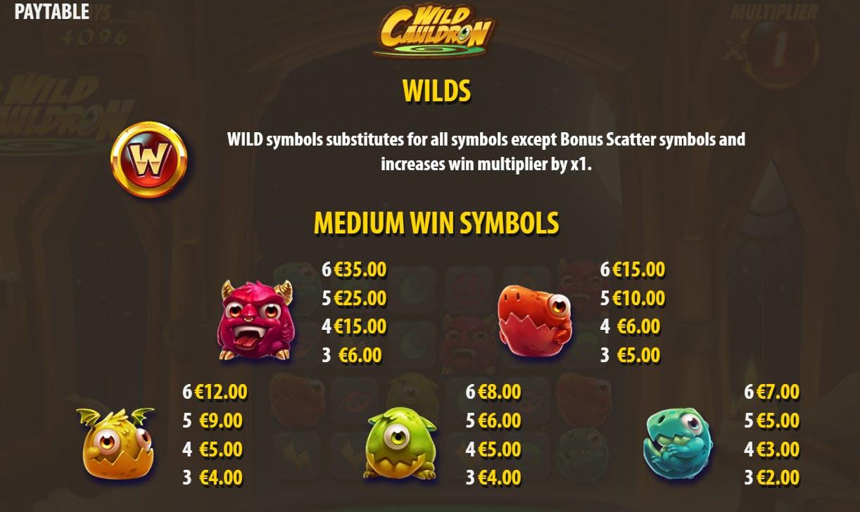 wild cauldron symbols