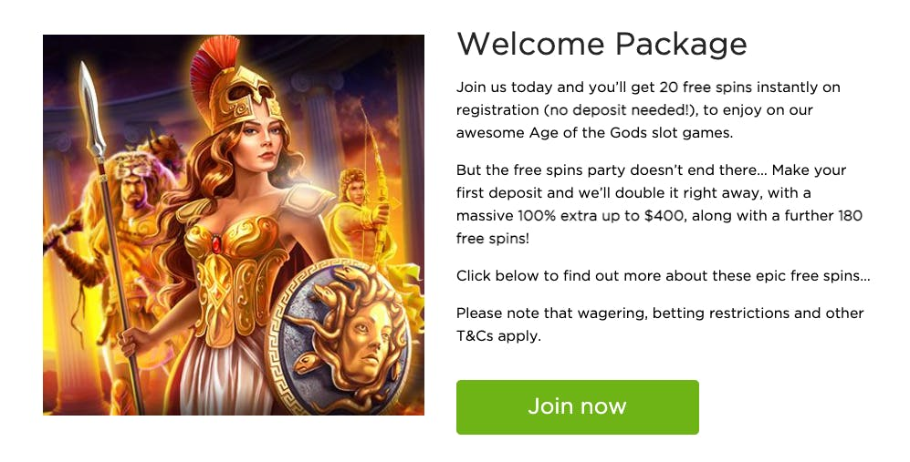 welcome package casino.com