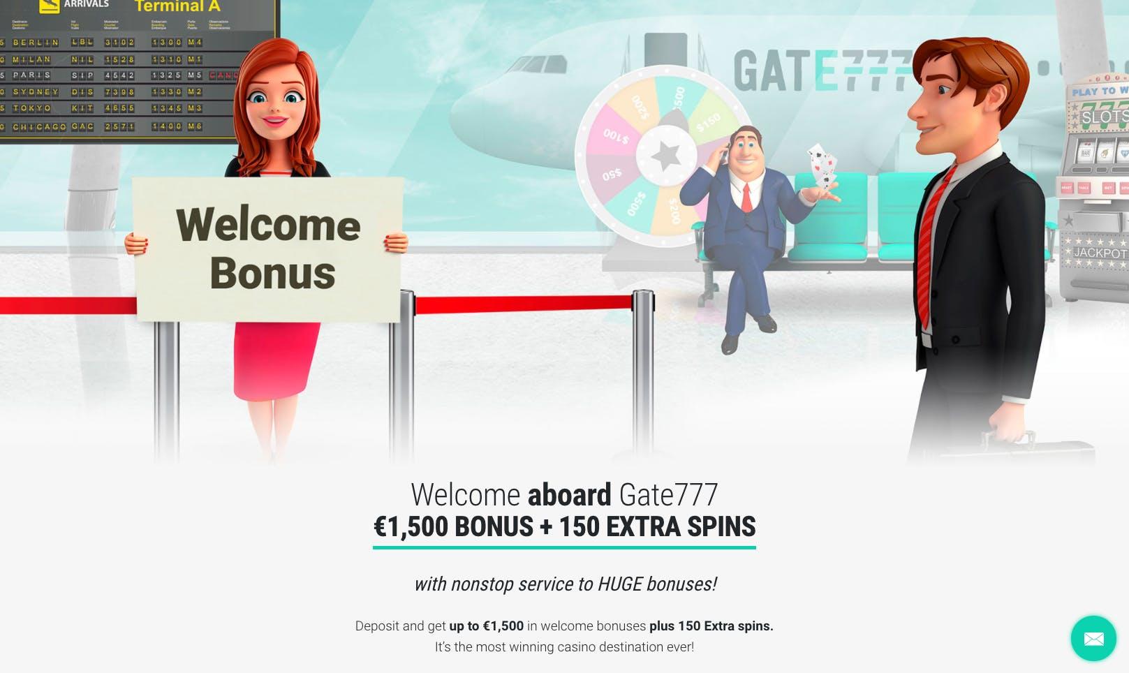 welcome bonus gate777