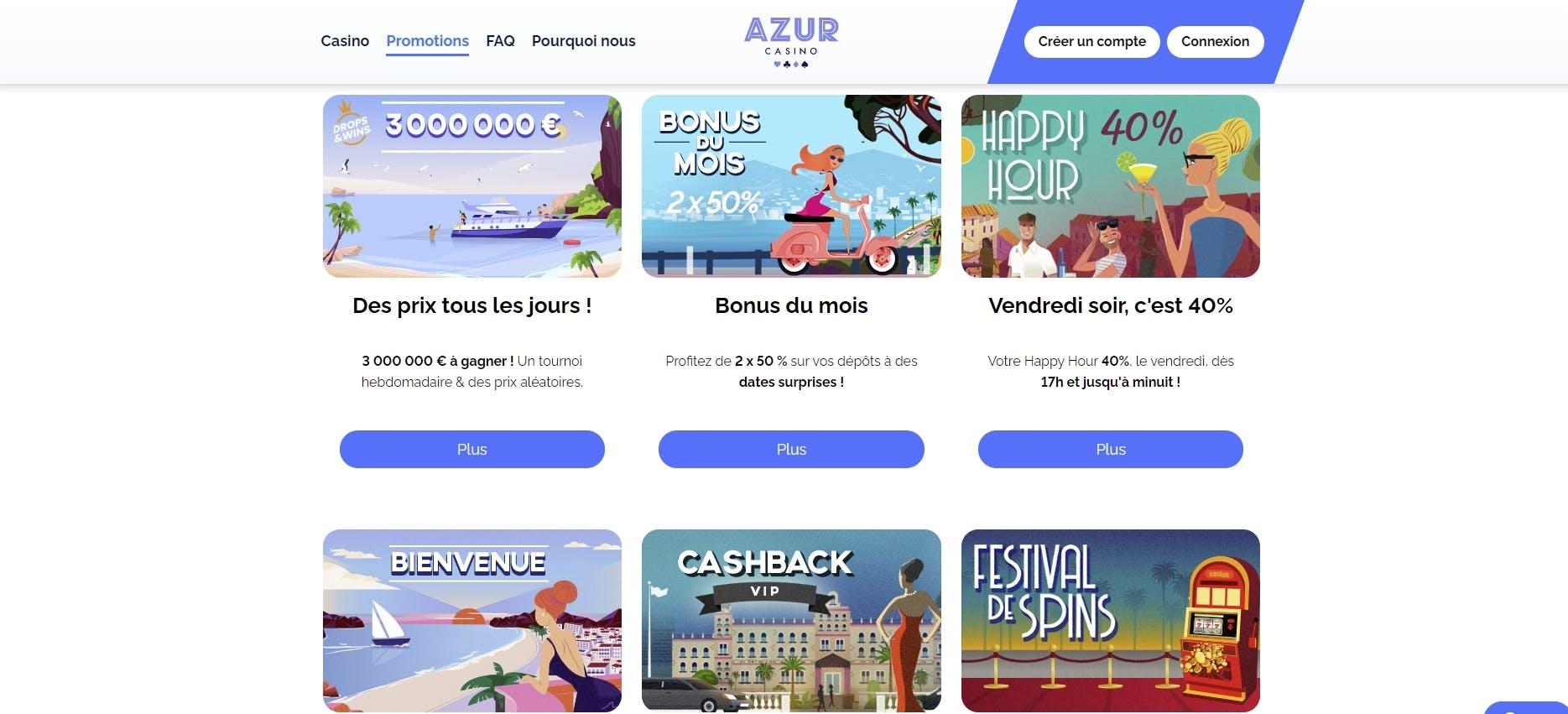 azur casino bonus
